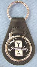 Vintage Black Ford GRANADA Black Leather Keyring Key Fob 1977 1978 1979 1980