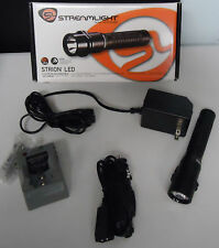 STREAMLIGHT POLICE STRION LED FLASHLIGHT with HOME & CAR CHARGER 250 LUMEN 74301