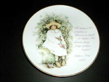 "Holly Hobbie Porcelain Mother's Day 8"" Plate 1980"
