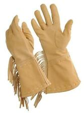 TOUGH 1 LEATHER FRONTIER GLOVES COWHIDE BUCK-A-R00 WITH FRINGE LADIES EX LG NEW