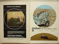 12/1972 PUB PANHARD & LEVASSOR AML M3 / KRAUSS-MAFFEI CHAR LEOPARD MILITARY AD