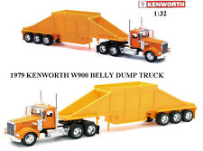 Newray 1/32 Scale 1979 Kenworth W900 Belly Dump Truck Semi Truck & Trailer 10513