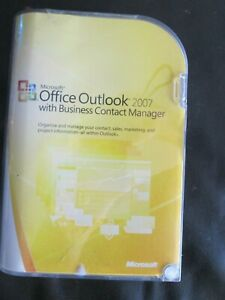 MICROSOFT OFFICE Outlook 2007 With Business Contact Manager CRM Software Sealed
