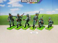 Britains Deetail WW2 German Infantry Series 2 set of 6 (lot 3311)