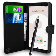 """Black Wallet Flip Case Pouch PU Leather Cover for Google Pixel 3 Mobile 5.5"""""""