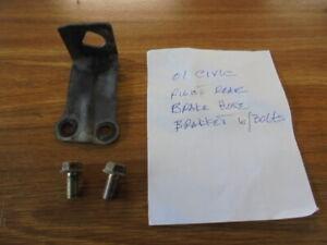 01-02 HONDA CIVIC REAR RIGHT BRAKE HOSE BRACKET USED WITH BOLTS