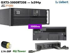 lx594p~ Liebert GXT3 Online 5000va UPS 120/208-240v GXT3-5000RT208 #NewBatts