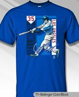 Los Angeles Dodgers MLBPA CODY BELLINGER #35 Color Block Youth Boys T Shirt Blue