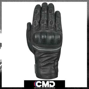 Oxford Hawker Mens Summer Adventure Short Leather Gloves Black