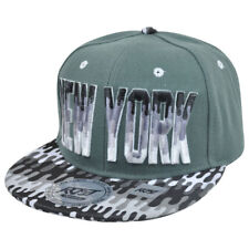 New York City NY Dripping Paint Print Snapback Grey Adjustable Flat Bill Hat Cap