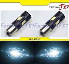 LED Light 1156 6W White 6000K Two Bulbs Rear Turn Signal Replace Stock Lamp JDM