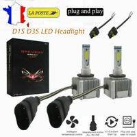 2X110W  D1S D3S LED Phare COB Ampoule  Light Voiture Headlight Kit Feux 26000LM