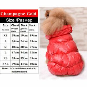 Waterproof Winter Warm Small Dog Jumpsuit Down Jacket Puppy Cat Coat Pet Clothes