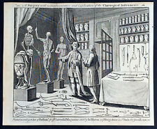 1760 Universal Magazine of Antique Print of Medical Surgery & Medical Instrument