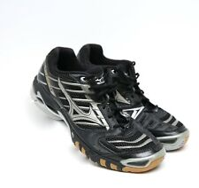 Mizuno Women's Wave Lightning 7 Volleyball Shoes Black Silver Size W 13