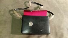 Old vintage Taiwan camera case bag maybe leather? Red felt photography accessory