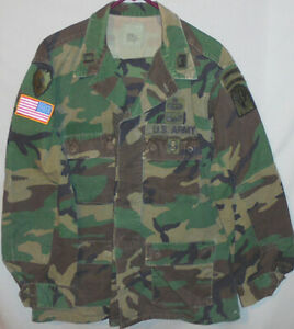 -Rare- Vintage -US Army Ranger- Paratrooper Officer's Military Camo BDU Uniform