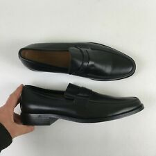 c5792f312cf Banana Republic Mens Black Penny Loafer Dress Leather Shoes 11 C1115654