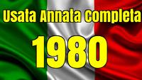 ITALIA REPUBBLICA 1980 ANNATA COMPLETA  USATA