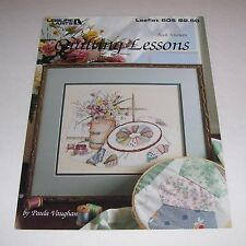 LA CROSS STITCH PATTERN LEAFLET 605 PAULA VAUGHAN QUILTING LESSONS 1988