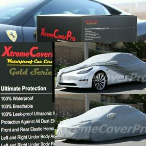 2018 2019 2020 2021 TESLA MODEL 3 WATERPROOF CAR COVER W/MIRROR POCKET -GREY