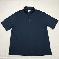 Grand Slam Polo Shirt Adult 2XL XXL Blue Short Sleeve Golf Casual Mens*