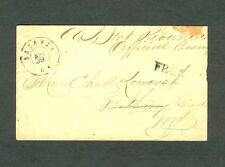 """BATAVIA NY"" 1860s cover with m/s ""U. S. Int Revenue Official Business"" & ""FREE"""