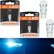 Sylvania ZEVO LED Light 194 Blue 10000K Two Bulbs License Plate Tag Replace Fit