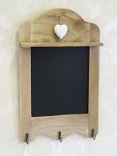 Kitchen Blackboard 3 Hooks for Keys Tea Towel Scalloped Memo Board Heart Detail