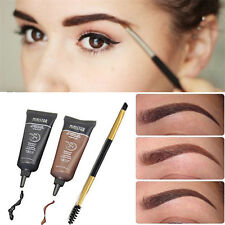 2x Brown Waterproof Tint Eyebrow Henna With Mascara Eyebrows Paint Brush Makeup