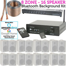 16 Altavoz, 8 Zona -background Música Kit Bluetooth Sonido Sistema Restaurante /