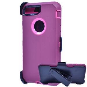 For iPhone 6 / 6s Shockproof Hard Case Belt Clip Fits Otterbox Defender Red Pink