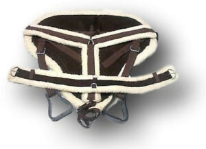 D.A. Brand Draft Size Brown Suede Bareback Pad w/ Girth and Breast Collar Equine
