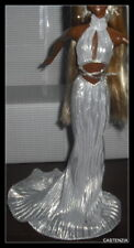 DRESS BARBIE DIVA GONE PLATINUM LONG SILVER EVENING GOWN CLOTHING ACCESSORY