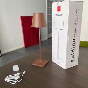 ZAFFERANO POLDINA Portable LED Table Lamp Rust LD0280R3