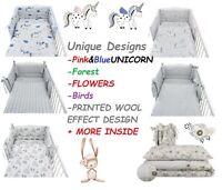 UNIQUE DESIGNS Baby Bedding Set fit Cot 120x60cm - Cot Bed 140x70 -BABY GIRL BOY