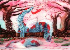 Cherry Blossom Dragon - 3D Postcard Lenticular Greeting Card