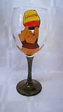 HAND Painted WINNIE THE POOH Honey Pot Grande Lavabile vino in vetro