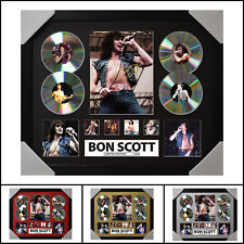 Bon Scott 4CD Signed Framed Memorabilia Limited Ed. 2017 - Multiple Variations