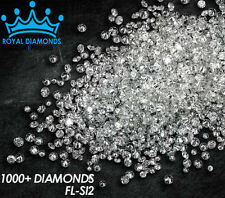 100% Natural Loose Round Single Cut 1000+ Diamonds FL-SI2 D-H(White) Star Real