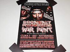 Doomsday Productions Clika One 420 Hooded Figures Vegas Rap 2013 Concert Poster