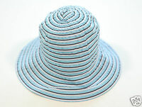 Nuevo Coccinelle Elegante Mujer Verano Sombrero Gorro Cap de Rayas (79) 1-16