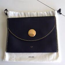 Celine Trio Bag Dark Blue Calfskin New With Tags Retail $1250