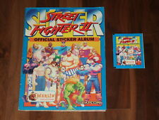 Super Street Fighter 2 Street Fighter II Complete Merlin 1994 Sticker Album &...