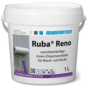 Ruberstein® Dispersionsfarbe innen Ruba Reno 1 L weiß