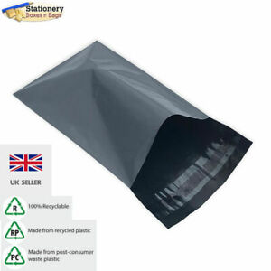 """10 GREY 14"""" x 20"""" Mailing Mail Postal Parcel Packaging Bags 350x500mm"""
