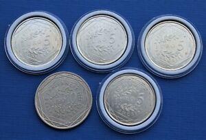 Lot > 4 x 5 Euro Argent 2013 (Valeurs de la République) & 10 Euro Argent 2011