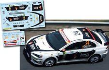 Decal 1:43 Ruben Gracia - MITSUBISHI LANCER EVO X - Rally Canarias 2010