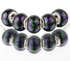 5pcs Creative MURANO bead LAMPWORK For European Charm Bracelet #E426
