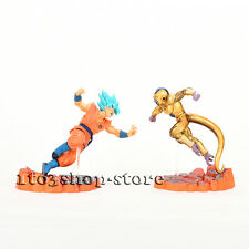 Dragon Ball Super Saiyan Blue God Z Son Goku VS Golden Frieza 2pcs Figure set